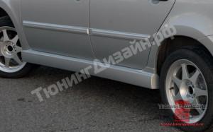 """Пороги """"Snaiper"""" для Лады Гранта (ВАЗ 2190, 2191) и Лады Калина-2 (ВАЗ 2192, 2194)"""