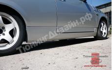 "Пороги с накладками на двери ""AVR"" для ВАЗ 21123 (купе)"