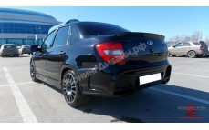 "Бампер задний с накладкой багажника ""AVR"" для Лады Гранта седан (ВАЗ 2190)"