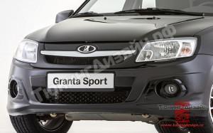 """Оригинальная решетка радиатора (маска) """"Granta Sport"""" для Лады Гранта (ВАЗ 2190, 2191)"""