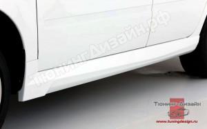 "Пороги ""GTS-2"" для Лады Гранта (ВАЗ 2190, 2191) и Лады Калина-2 (ВАЗ 2192, 2194)"