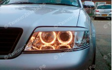 "Накладки на фары (реснички) ""ARS"" тюнинг для Audi A6 (Ауди А6)"