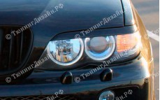 "Накладки на фары (реснички) ""ARS"" тюнинг для BMW X5 (БМВ E53)"