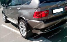 """Накладка на задний бампер (спойлер) """"YT"""" для BMW X5 (E53)"""