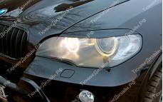 "Накладки на фары (реснички) ""MV"" тюнинг для BMW X5 (БМВ E70)"