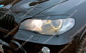 "Накладки на фары (реснички) ""MV"" для BMW X5 (E70)"