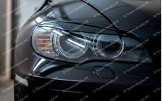 "Накладки на фары (реснички для стандартных фар) ""ARS"" тюнинг для BMW X6 (БМВ E71/E72)"