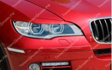 """Накладки на фары (реснички для LED фар) """"MV"""" тюнинг для BMW X6 (БМВ E71/E72)"""