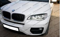 """Накладки на фары (реснички для LED фар) """"ARS"""" тюнинг для BMW X6 (БМВ E71/E72)"""