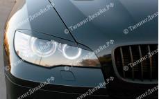 "Накладки на фары (реснички для стандартных фар) ""GT"" тюнинг для BMW X6 (БМВ E71/E72)"