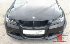 """Накладка на передний бампер """"MV"""" тюнинг для BMW E90 - M3 Series (БМВ Е90 - 3 серии)"""