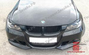 """Накладка на передний бампер """"MV"""" для BMW E90 - M3 Series [2005-2008]"""