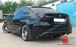 """Накладка на задний бампер """"MV"""" для BMW E90 - M3 Series [2005-2008]"""