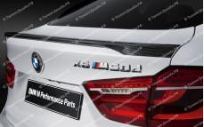 """Лип-спойлер """"M Performance"""" тюнинг для BMW X6 (БМВ F16)"""