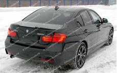 """Лип-спойлер (с вырезом) """"Movery"""" тюнинг для BMW F30 - M3 Series (БМВ F30 - 3 серии)"""