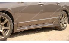 "Накладки на пороги ""Mugen Style"" для Honda Civic седан [2006-2012]"