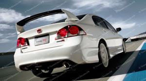 """Спойлер высокий """"Mugen Style Type-R"""" для Honda Civic седан [2006-2012]"""