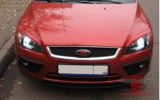 """Накладки на фары (реснички, широкие) """"MV-2"""" для Ford Focus 2 [2004-2008]"""