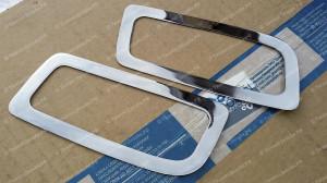 """Вставки в задний бампер под выхлоп """"Concept"""" для Ford Focus 2 седан [2004-2011]"""