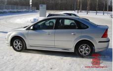"Накладки на пороги ""FT"" для Ford Focus 2 [2004-2011]"