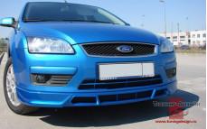 """Накладка на передний бампер """"FT"""" для Ford Focus 2 [2004-2008]"""