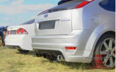 """Накладка на задний бампер (диффузор) """"Sport"""" для Ford Focus 2 хэтчбек [2004-2008]"""
