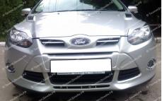 "Накладка на передний бампер ""Forsage"" для Ford Focus 3"