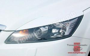 """Накладки на фары (реснички) """"вариант №2"""" для Ford Focus 2 [2004-2008]"""