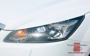"""Накладки на фары (реснички) """"вариант №3"""" для Ford Focus 2 [2004-2008]"""