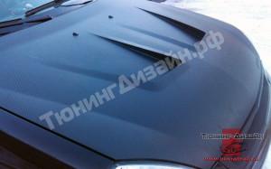 """Капот стеклопластиковый """"AVR"""" для Лады Приора (ВАЗ 2170, 2171, 2172)"""