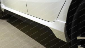 """Накладки на пороги """"GT"""" для Kia Rio III седан/хэтчбек [2011–2017]"""