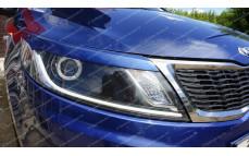 """Накладки на фары (реснички) """"GT"""" для Kia Rio III седан/хэтчбек [2011–2014]"""