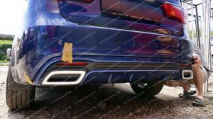 "Накладка на задний бампер (диффузор) ""GT"" для Kia Rio III седан [2011–2014]"
