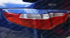 """Накладки на задние фонари (реснички) """"GT"""" для Kia Rio III седан [2011–2014]"""