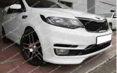 """Накладки переднего бампера (клыки) """"BSM Performance"""" для Kia Rio III седан/хэтчбек [2015–н.в.]"""