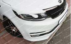 """Накладки на фары (реснички) """"BSM Performance"""" для Kia Rio III седан/хэтчбек [2015–н.в.]"""