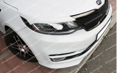 "Накладки на фары (реснички) ""BSM Performance"" тюнинг для Kia Rio III (Киа Рио 3) [седан/хэтчбек]"
