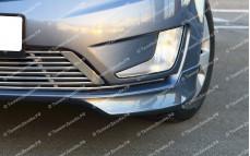 """Накладки переднего бампера (клыки) """"BSM Performance"""" тюнинг для Kia Rio III (Киа Рио 3) [седан/хэтчбек]"""