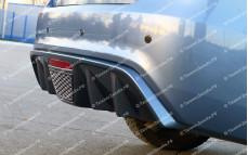 """Накладка на задний бампер (диффузор без стоп-сигнала) """"BSM Performance"""" для Kia Rio III седан [2011–2014]"""