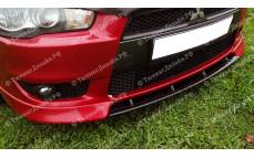 """Накладка переднего бампера (сплиттер) """"Sport 2.0L"""" для Mitsubishi Lancer 10 (дорестайлинг) [2007–2010]"""