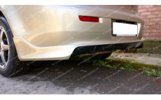 """Накладка на задний бампер (под одну трубу) """"ARS Zodiak"""" для Mitsubishi Lancer 10 [2007–2016]"""