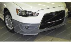 "Накладка на передний бампер ""ARS Shark"" для Mitsubishi Lancer 10 (рестайлинг) [2010–2016]"