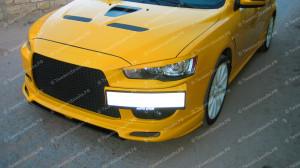 "Накладка переднего бампера (сплиттер) ""ARS Zodiak"" для Mitsubishi Lancer 10 (рестайлинг) [2010–2016]"