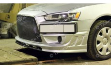 """Накладка переднего бампера (сплиттер) """"ARS Shark"""" для Mitsubishi Lancer 10 (рестайлинг) [2010–2016]"""