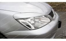 """Накладки на фары (реснички узкие) """"ARS"""" для Mitsubishi Lancer 9 [2003-2009]"""