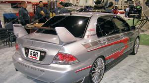 """Спойлер """"EVO"""" для Mitsubishi Lancer 9 (трехсоставной) [2003-2009]"""