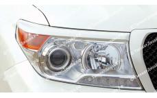 """Накладки на фары (реснички) """"ARS"""" для Toyota Land Cruiser 200 (рестайлинг) [2012-2015]"""