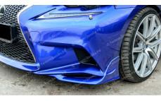 """Накладки переднего бампера (клыки) """"MV"""" для Lexus IS-3 [2013-2016]"""