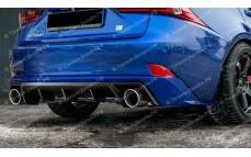 """Накладка на задний бампер (диффузор) """"MV"""" для Lexus IS-3 [2013-н.в.]"""