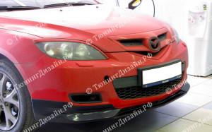 """Накладки на фары (удлиненные реснички) """"ARS"""" для Mazda 3 BK"""